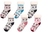 Cosy Indoor Winter Socks for Children One Size Anti-slip Warm Lining Super Soft Norwegian Style Girls Boys from Alsino