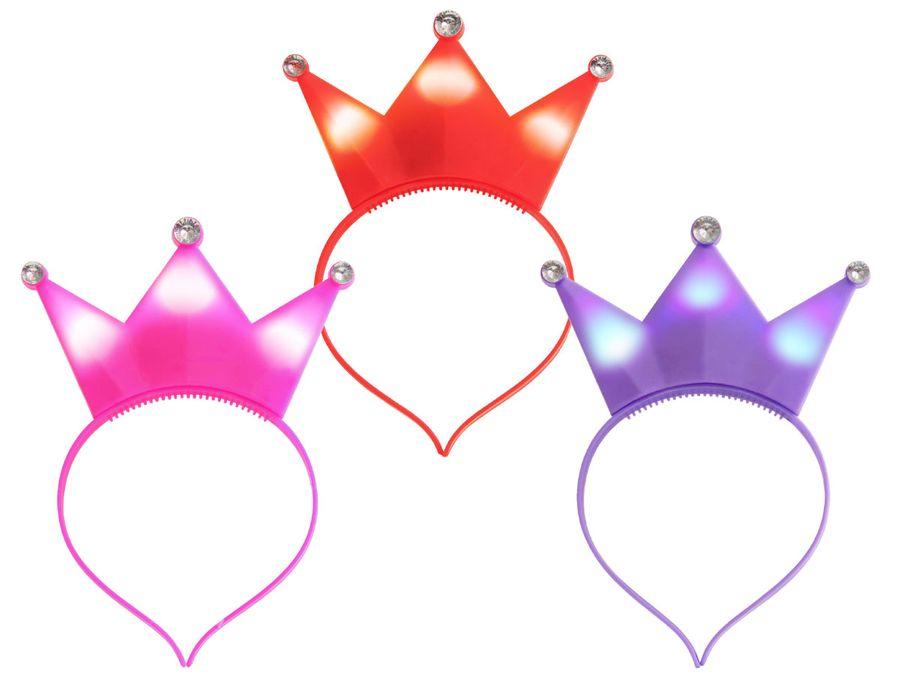 Kronen Prinzessin LED Leuchthaarreif in Einheitsgröße für Kinder und Erwachsene ca. 16 x 20 cm mit 3 Leuchteffekten von Alsino