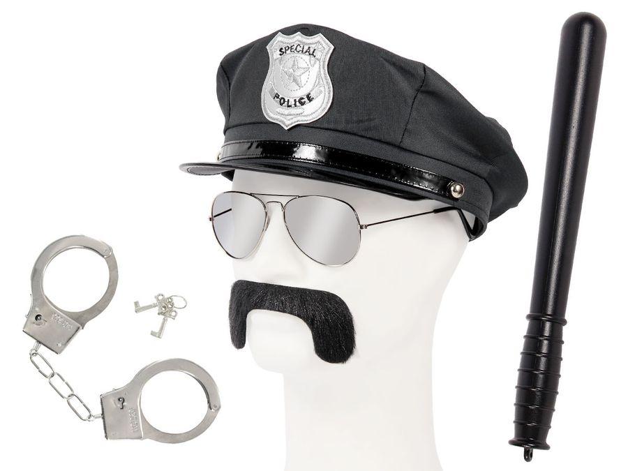 Polizei Outfit Karneval Verkleidung (Kv-128) Fashings Cop Paket von Alsino
