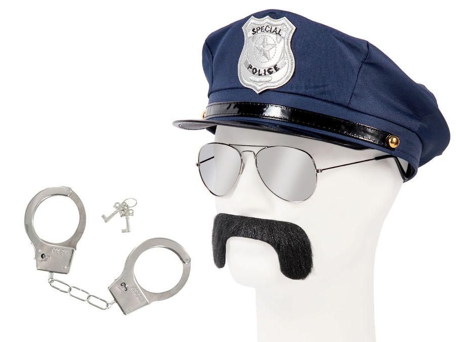 Cop Polizei Fasching Verkleidung (Kv-134) großes Set zum Verkleiden von Alsino