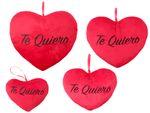 Cuscino Decorativo | Te quiero | Rosso | Peluche | Diverse Misure | Morbido | con Laccio | San Valentino | Innamorati