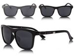 Loox Sunglasses | Barcelona | Men | Women | Frame | Non-Mirrored Squared Lenses | Hipster | Nerd | with Case