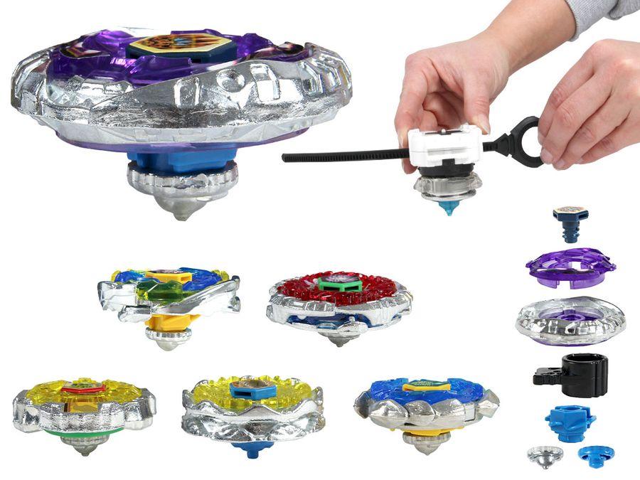 Kampfkreisel Metall Masters 4D System mit Beschleuningslauncher Speed Kreisel Kinderspielzeug (KKR-02) von Alsino