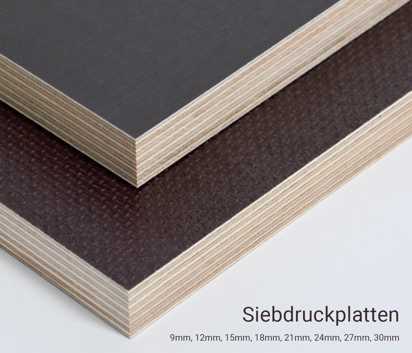 Siebdruckplatte 24mm Zuschnitt Multiplex Birke Holz Bodenplatte 50x60 cm