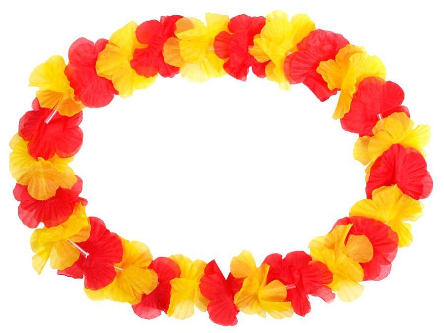 Hawaiiketten Spanien rot gelb Blumenketten Hawaii Kette 11