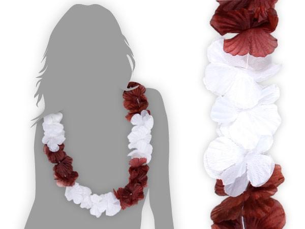60 blumen ketten junggesellenabschied hawaii ketten bl ten kette wei braun 32 ebay. Black Bedroom Furniture Sets. Home Design Ideas