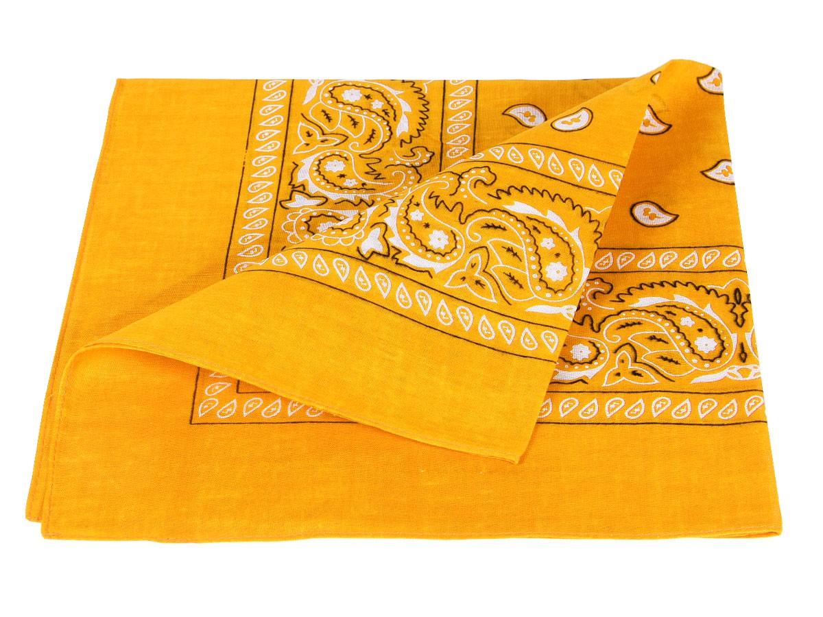 Bandana gelb paisley Zandana 100% Cotton 55