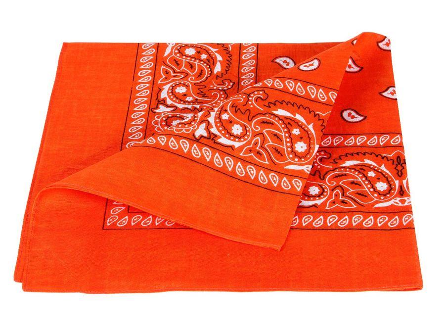 Bandana orange paisley Zandana 100% Cotton 57