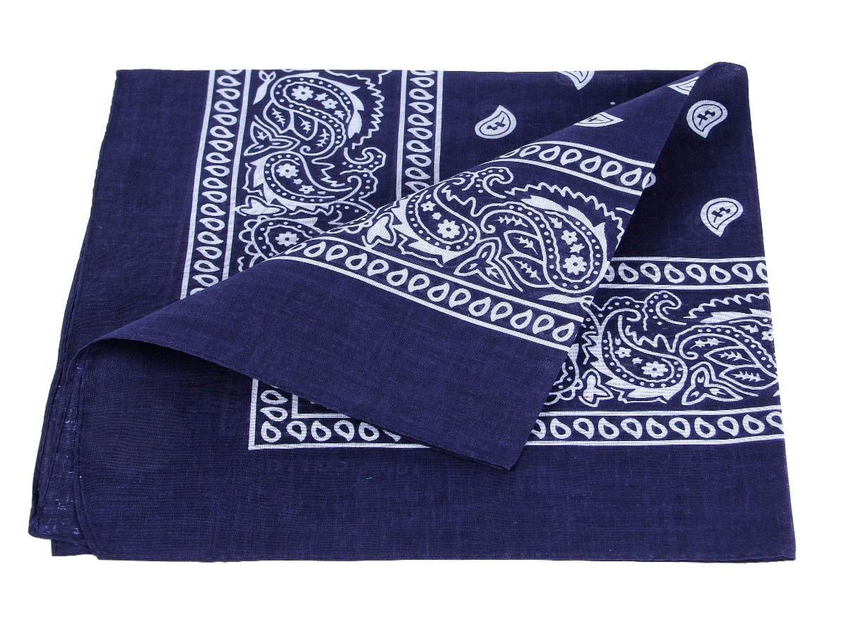 Bandana Bleu motif paisley (Alsino ba-60) de qualité supérieure 100% coton,  environ 54 x 54 cm foulard zandana écharpe accessoire vêtement vacances  d été ... 4f226e04e0f