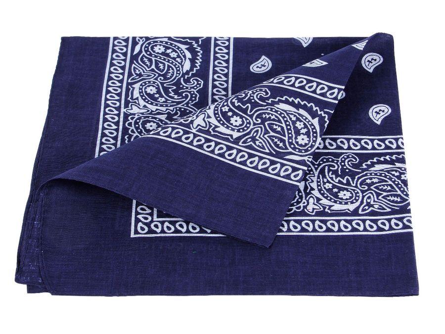 Bandana blau paisley Zandana 100% Cotton 60