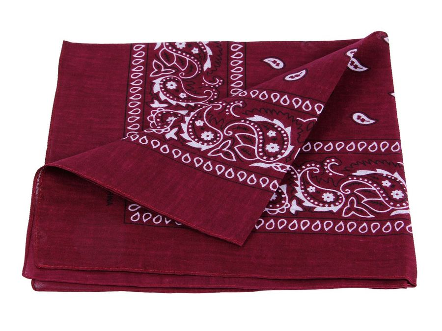 Bandana bordeaux paisley Zandana 100% Cotton 75