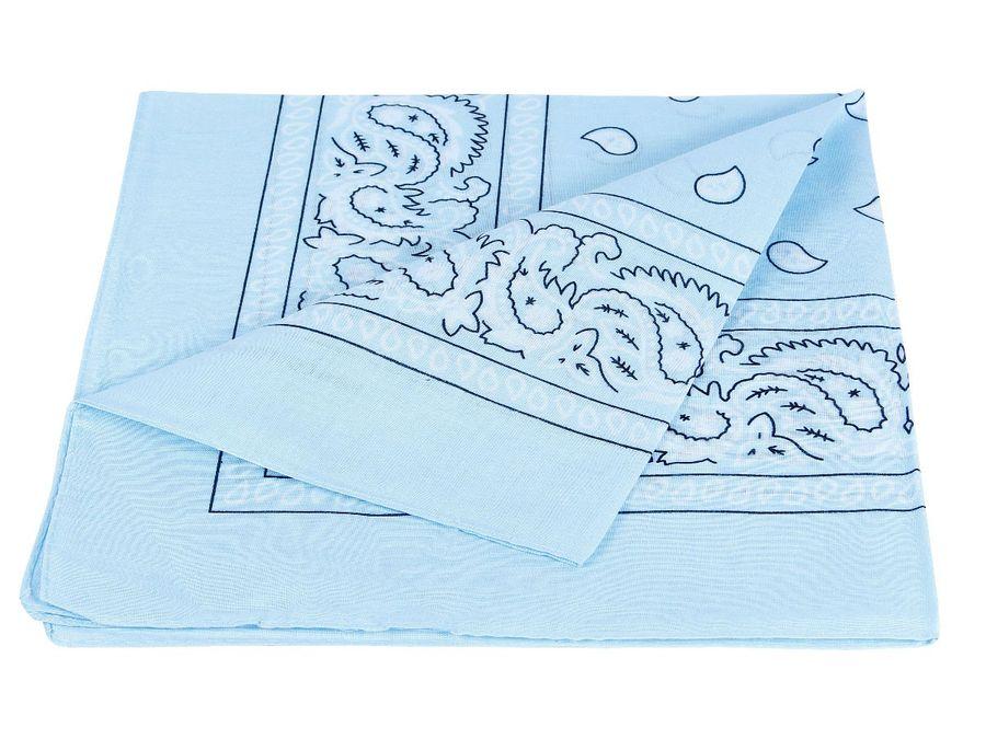 Bandana hellblau/weiß paisley Zandana 100% Cotton 98