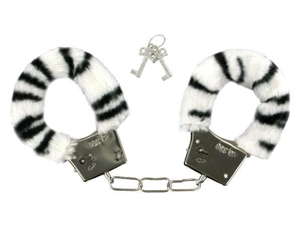 ALSINO Plüschhandschellen Hand-Cuffs Zebra Plüsch 04
