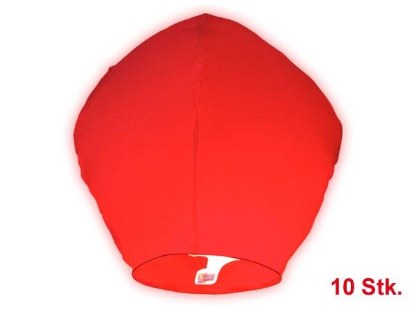 Himmelslaternen Skylaternen 10 Stück in rot