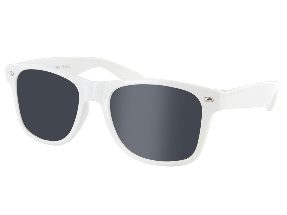 Nerd Blues Brothers Sonnenbrille Viper weiß V-816