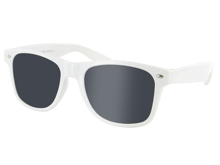 Nerd Blues Brothers Sonnenbrille Viper weiß V-816