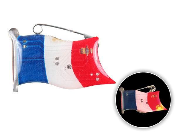 Blinki Anstecker Blinky Brosche Pin Button Flagge Frankreich 101