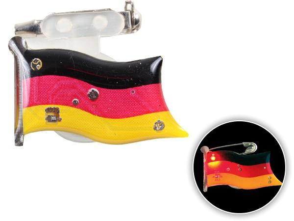Blinki Anstecker Blinky Brosche Pin Button Deutschland Flagge 112
