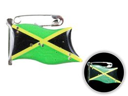 Blinki Anstecker Blinky Brosche Pin Button Jamaica Flagge 108