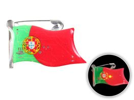 Blinki Anstecker Blinky Brosche Pin Button Portugal Flagge 104