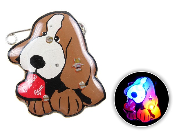 Blinki Anstecker Blinky Brosche Pin Button Hund mit Herz 132