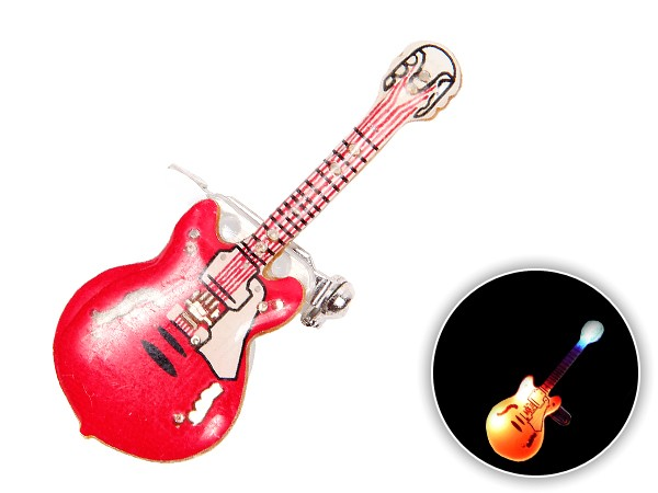 Blinki Anstecker Blinky Brosche Pin Button Gitarre 04