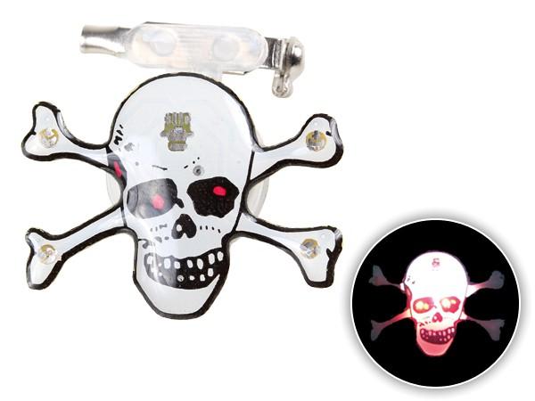 Blinki Anstecker Blinky Brosche Pin Button Totenkopf 16a