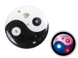 Blinki Anstecker Blinky Brosche Pin Button Yin und Yang 81