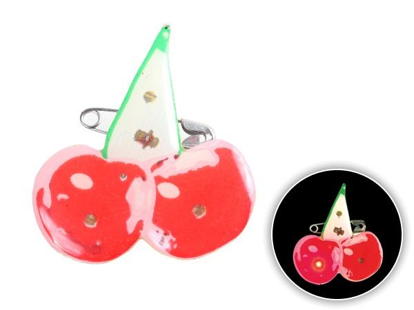 Blinki Anstecker Blinky Brosche Pin Button Kirschen 94
