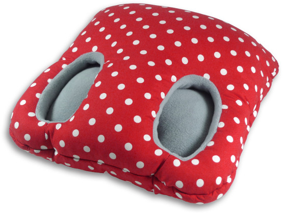 Foot warmer | Square Colour: Polka dot red – Bild 1