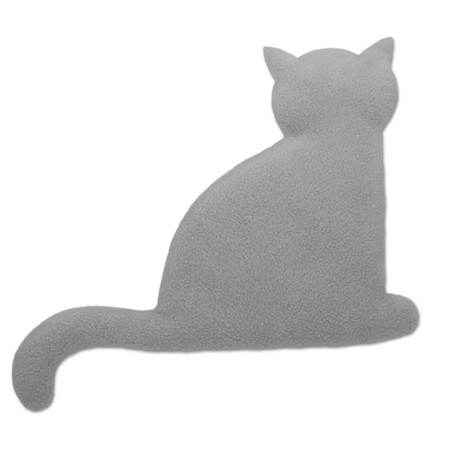 Warming pillow | Minina the cat | sitting | big Colour: Misty Morning / Midnight – Bild 1