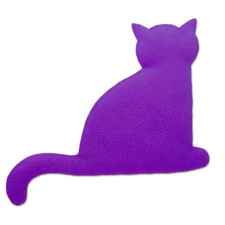 Wärmekissen | Die Katze Minina | sitzend | groß Farbe: Purpur / Mitternacht – Bild 1