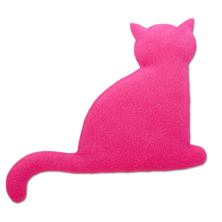 Warming pillow | Minina the cat | sitting | big Colour: Flamingo / Midnight – Bild 1
