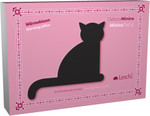 Warming pillow | Minina the cat | sitting | big Colour: Flamingo / Midnight