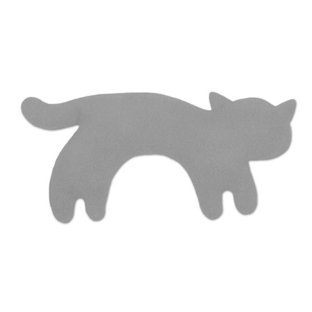 Warming pillow | Minina the cat | standing | small Colour: Misty Morning / Midnight – Bild 1