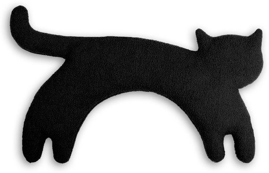 Warming pillow | Minina the cat | standing | big Colour: Midnight / Midnight