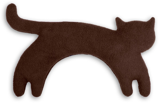 Warming pillow | Minina the cat | standing | big Colour: Chocolate / Midnight – Bild 1