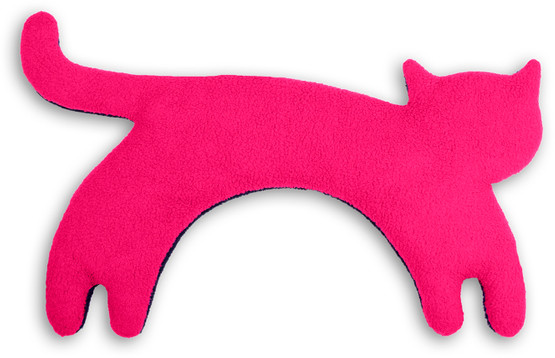 Warming pillow | Minina the cat | standing | big Colour: Flamingo / Midnight – Bild 1