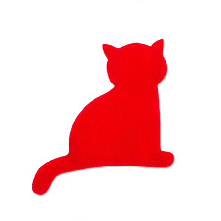 Warming pillow | Minina the cat | sitting | small Colour: Fire / Midnight – Bild 1
