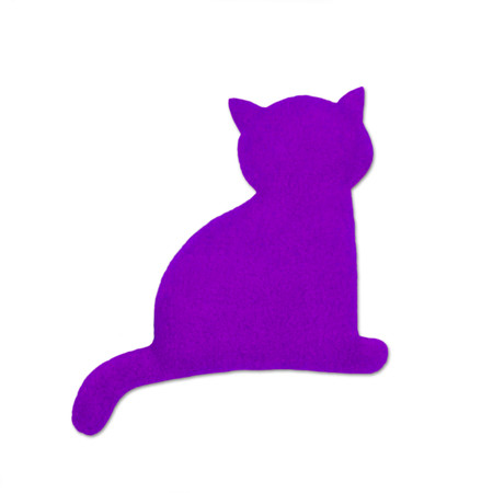 Warming pillow | Minina the cat | sitting | small Colour: Purple / Midnight – Bild 1