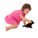Warming pillow | Minina the cat | sitting | small Colour: Flamingo / Midnight