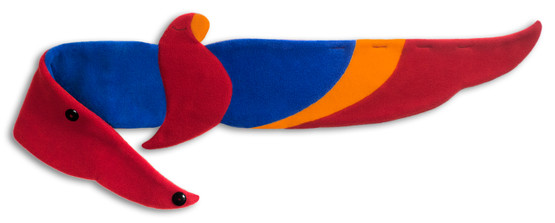 Back warmer | Joaquin the parrot Colour: Fire – Bild 1