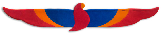 Back warmer | Joaquin the parrot Colour: Fire – Bild 6