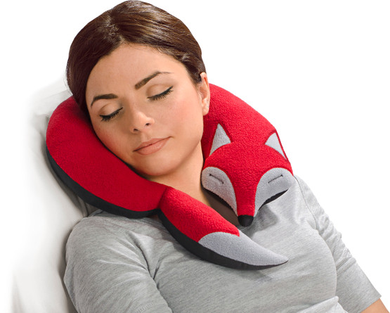 Travel pillow | Peter the fox Colour: Fire / Midnight – Bild 2