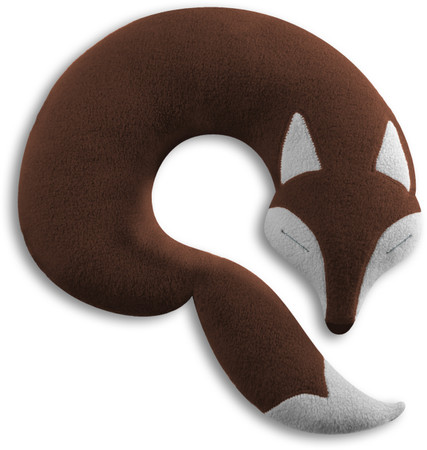 Travel pillow | Peter the fox Colour: Chocolate / Midnight – Bild 1