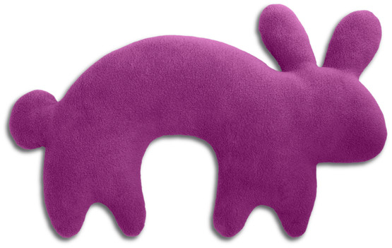 Travel pillow | Paulo the rabbit Colour: Purple / Midnight – Bild 1
