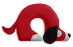 Travel pillow | Charlie the dog Colour: Chocolate / Midnight