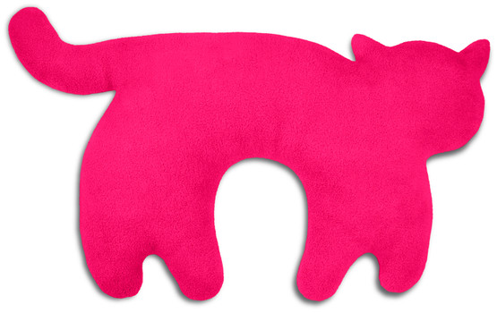 Travel pillow | Feline the cat Colour: Flamingo / Midnight – Bild 1