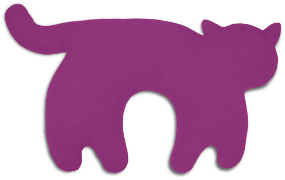 Travel pillow | Feline the cat Colour: Purple / Midnight – Bild 1