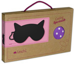 Eye mask | Luna the cat Colour: Polka dot red / Midnight